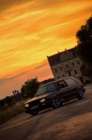 VW Golf Mark II Fire And Ice by 0ms0