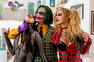 Joker Harley Quinn and Catwoman by deaded78