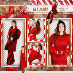 Pack Png Lily James 03 by neveroutofstyle