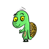 Turtle Sticker by Axolotlet