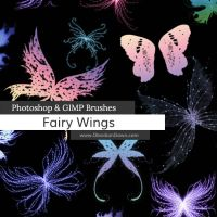 Fairy Wings Photoshop and GIMP Brushes by redheadstock