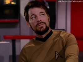 Riker in TOS uniform by deadfraggle