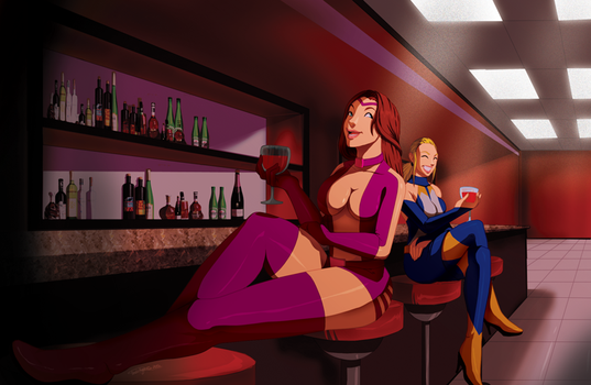At the Bar - by TovioRogers by Hex-Girl
