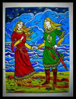 Amarie and Finrod by Hemhet
