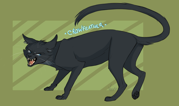 Warriors Cats - Crowfeather by VanyCat