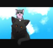 Dog and cat by Apricolor