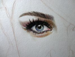 eye of miley cyrus by Zombieyue