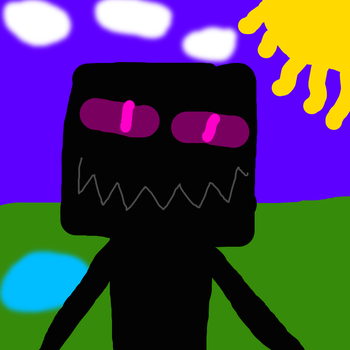 Enderman with pretty background by deeznuts300