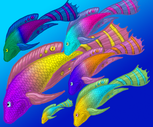 Fish Concept art by Draconic-Lover