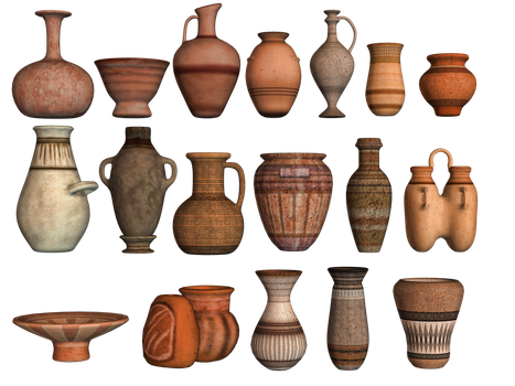 Pottery 02 PNG Stock by Roy3D