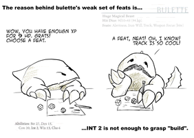 Bulette's feats - eng by Katemare