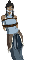 Korra Tied Up and Gagged by songokussjsannin8000