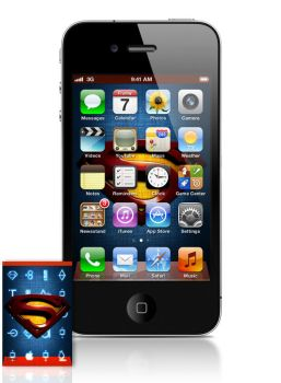 iPhone Home Screen Superman by almanimation