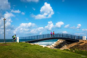 Bridge in Tel Aviv - Jaffa by Rikitza