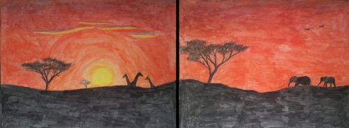 African Sunset by Wimbreedveld