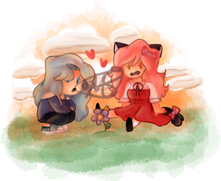K~C and Katelyn and the Bee? by TheEmeraldCat131