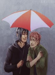 In The Rain by RinAvenue