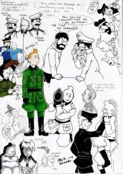 Tintin in a war that nobody wanted by Ad1er