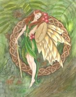 Celtic Rowan Tree Fairy by mickiemueller