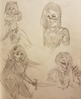 Gw2 Sketches by Aivvie