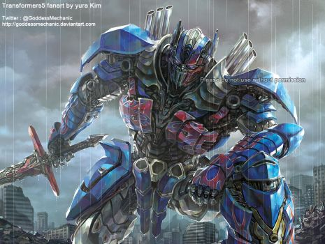 TF5 Optimus prime fan art by GoddessMechanic