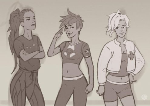 Overwatch doodle by KidiMaster
