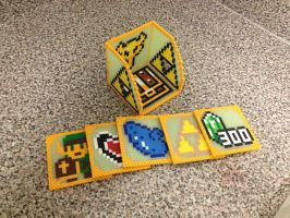 Legend of Zelda Perler Coaster Set by jnjfranklin