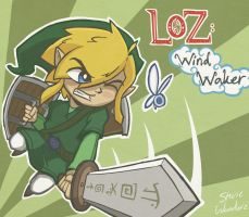 Legend of Zelda: Windwaker Link by StevieWunderz