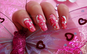 valentine's day nail art 2 by Tartofraises