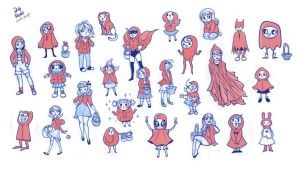 little red riding hoods by boozits