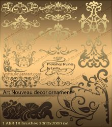 Brushes Art Nouveau decor ornament by Lyotta