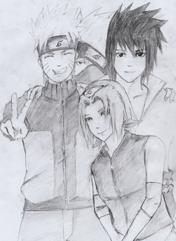 Group 7 Naruto by TheWorstWarrior4466