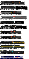 4-8-4 Northern Locomotives by o484