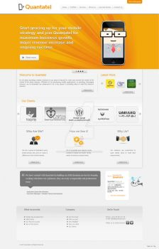 Quantatel website by manno-designer