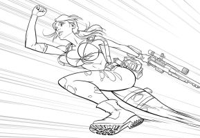 Quiet MGSV inks by PatrickBrown