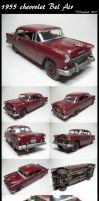 1955 chevy Bel Air - model car by devilsreject493
