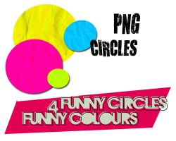 4 FUNNY PNG CIRCLES by Letterbomb21