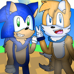 Sonic and Tails by cjc728