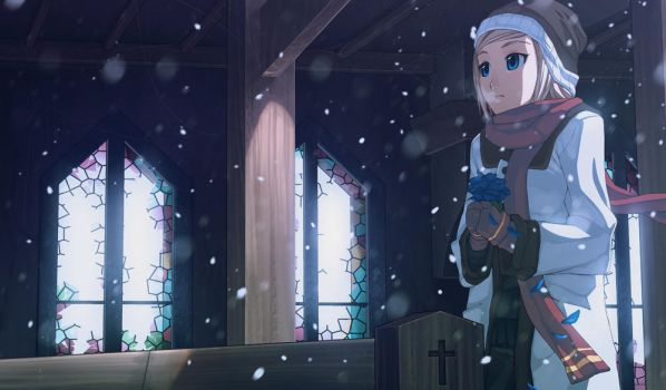 Cold Snowy Morning by lires