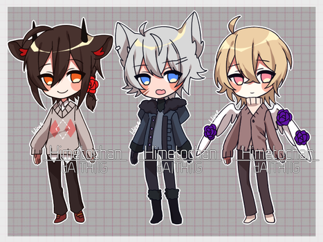 [CLOSED] winter kids set price adopts by Himetochan