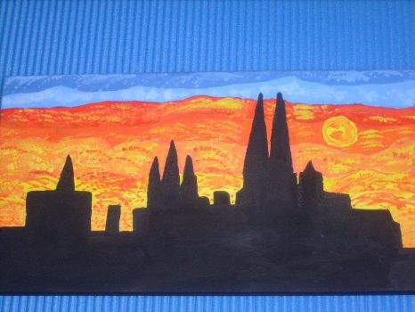 cologne dome painting surreal by ingeline-art