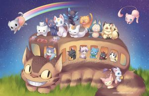 All Aboard the Catbus by yolichan