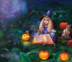 Little witch by Malinka-art