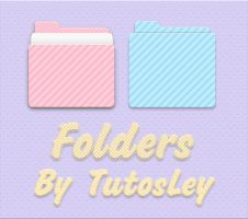 Folders Pink and Blue by leyfzalley