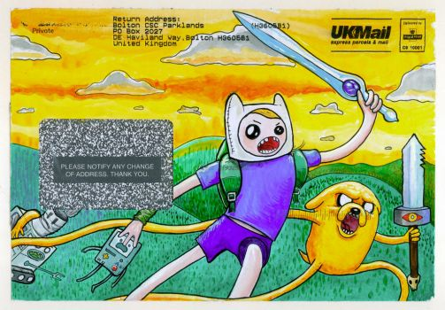 Envelope doodle: Adventure Time! by GaffaMondo