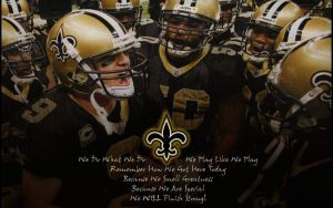 NFL Saints - Huddle Greatness by yurintroubl