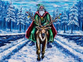Santa's Excursion by Kevinrichardfineart