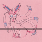 Sylveon / Nymphali - Pokemon by Zellgarm