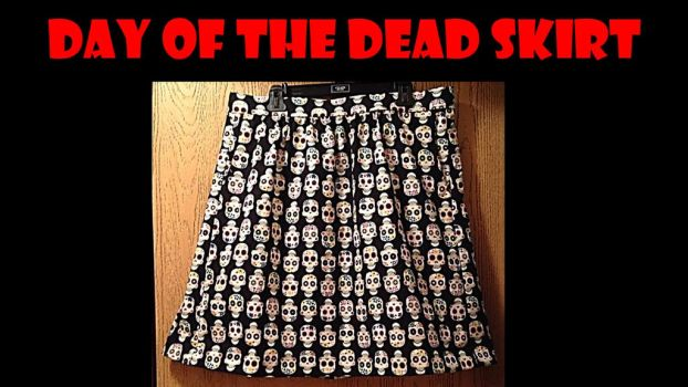 Day of The Dead Skirt by adagiobreezes