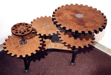 Steampunk Gear Table by ColeHastings